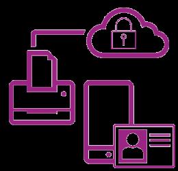 Symbol violettes sicheres Netzwerk