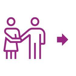 Partnerschafts-Ikone violett