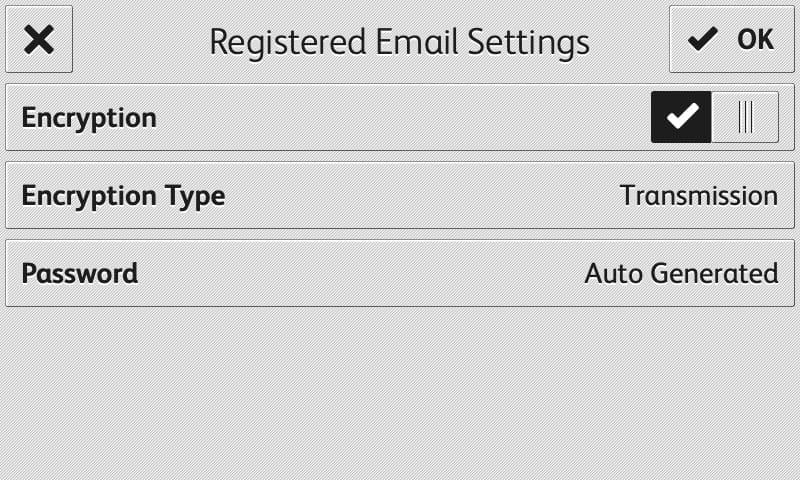 Screenshot RMail-Anwendung zur Anzeige registrierter E-Mails