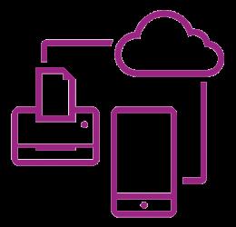 Symbol sicheres Netzwerk violett