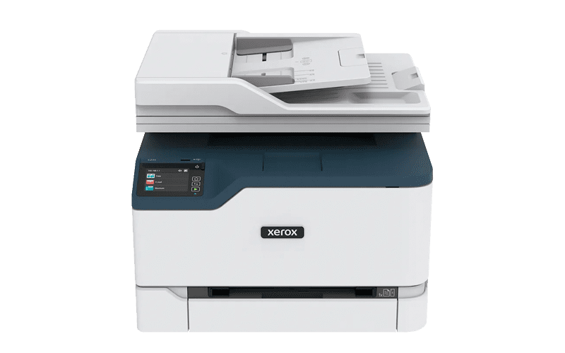 Xerox® C235 Multifunktionsdrucker Vorderansicht